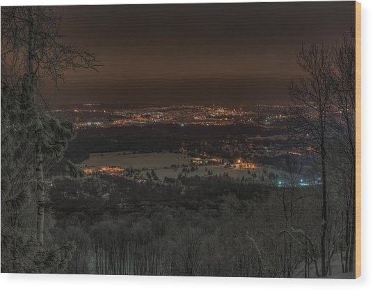 Wausau From On High Wood Print