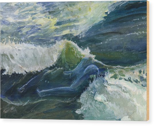 Wave 4 Wood Print