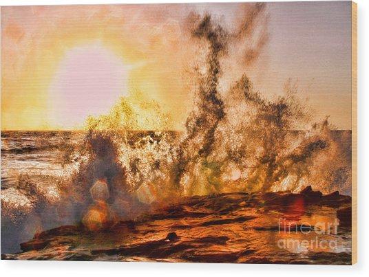 Wave Crasher La Jolla By Diana Sainz Wood Print