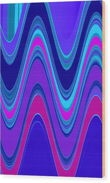 Wave II Wood Print