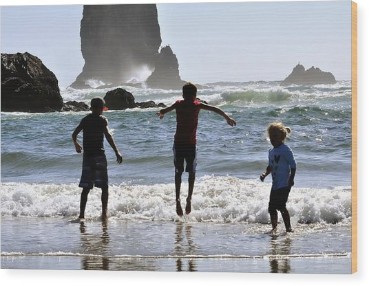 Wave Jumping 25614 Wood Print