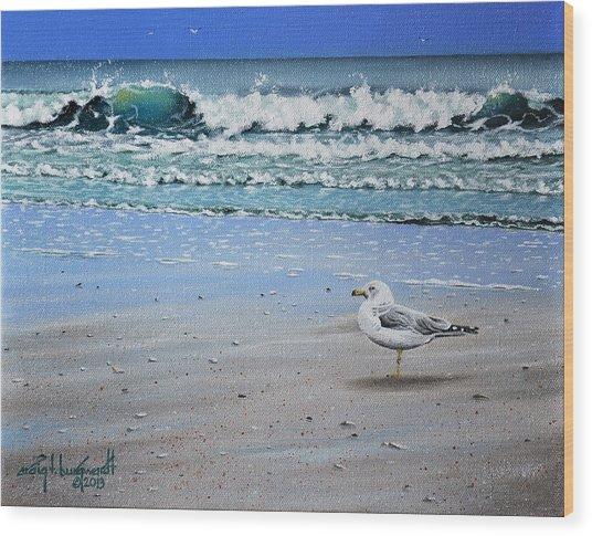 Waves And Rays Wood Print