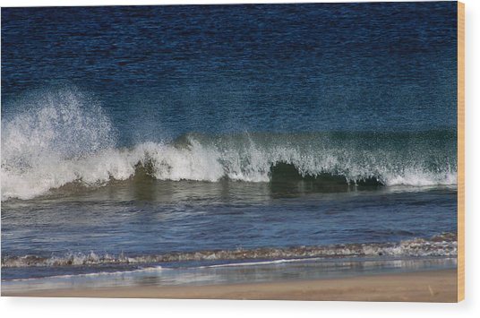 Waves And Surf Wood Print