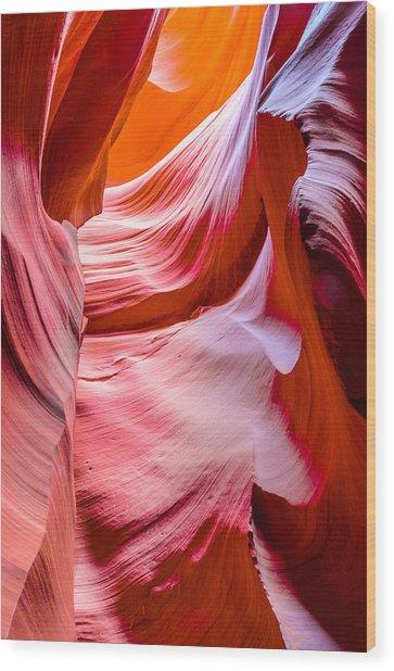 Waves Of Redrock Wood Print