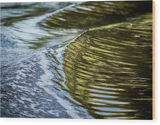 Waves Of Reflections Wood Print