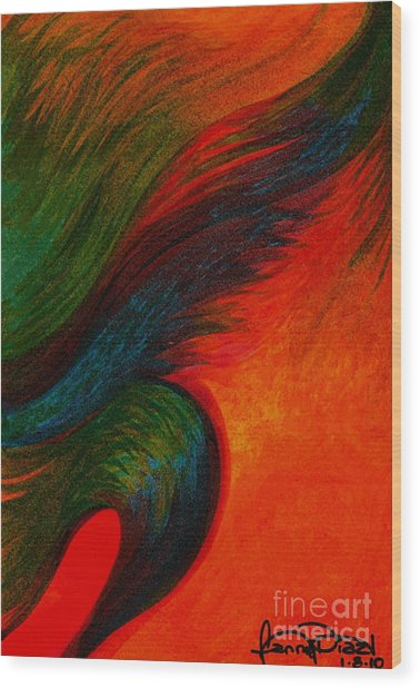 Waves Of The Wind Wood Print by Fanny Diaz