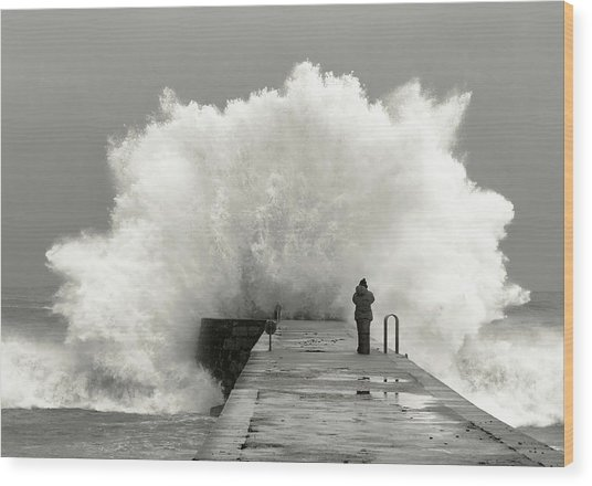 Waves Photographer Wood Print