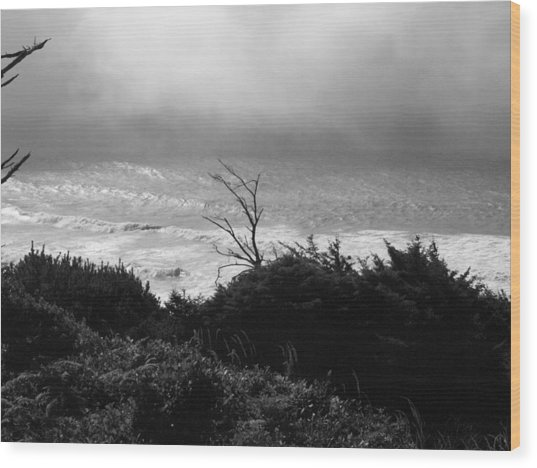Waves Upon The Land Wood Print