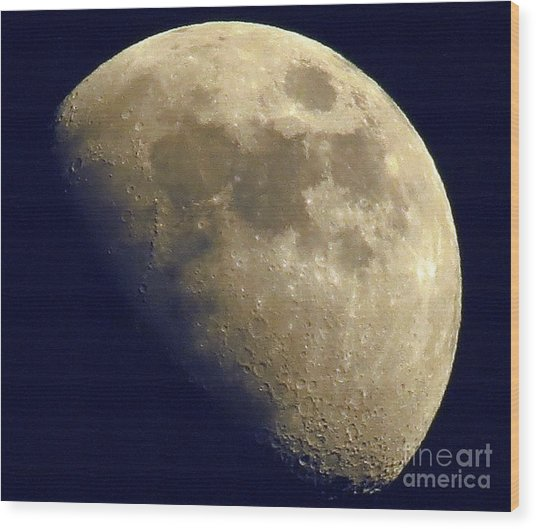 Waxing Gibbous Wood Print by Lonna Ours