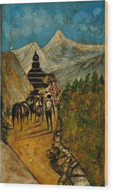 Way To God At Himalayas Wood Print