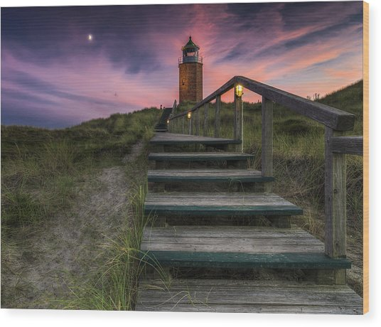 Way To Lighthouse Wood Print by Thomas Siegel