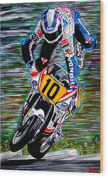 Wayne Gardner Wood Print by Jose Mendez