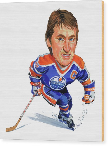 Wayne Gretzky Wood Print by Art