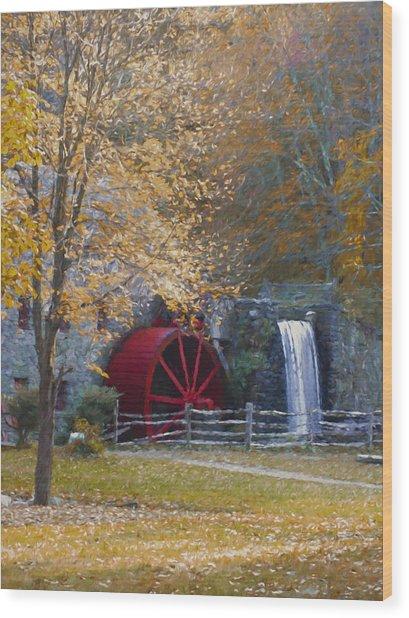 Wayside Inn Grist Mill Wood Print
