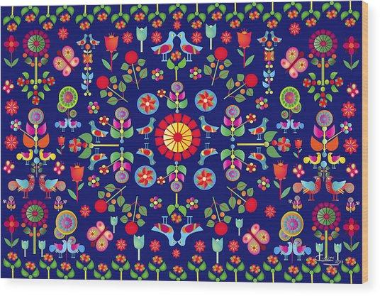 Wayuu Tapestry Wood Print
