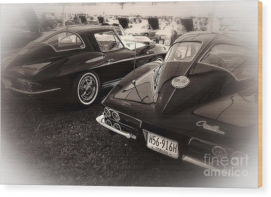 We Love Corvettes  Wood Print