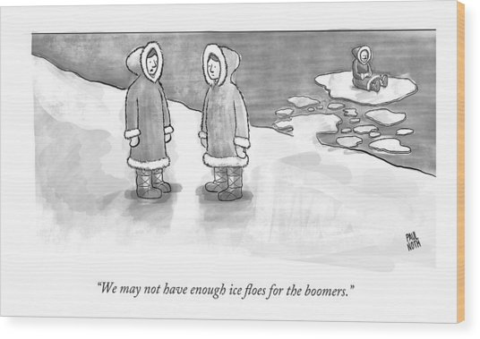 We May Not Have Enough Ice Floes For The Boomers Wood Print