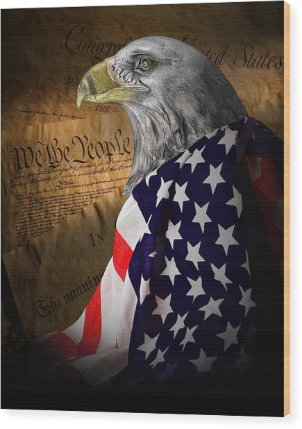 We The People Wood Print