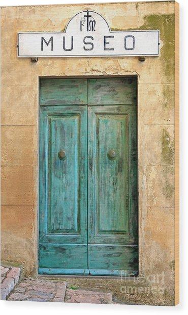 Weathed Museo Door Wood Print
