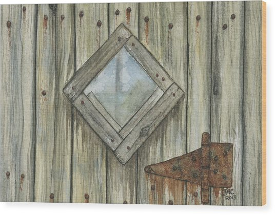 Weathered #1 Wood Print