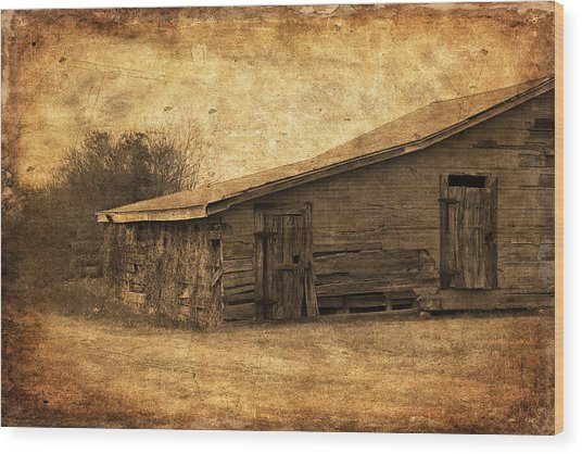Weathered And Old Wood Print
