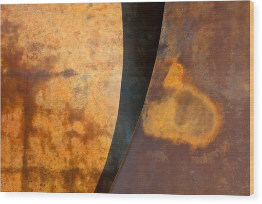 Weathered Bronze Abstract Wood Print