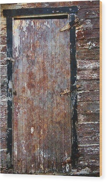 Weathered Door Wood Print