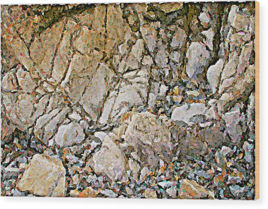 Weathered Rock Face Owlshead Wood Print by Peter J Sucy