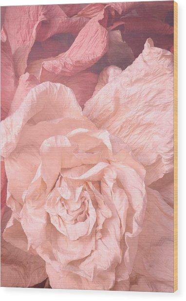 Weathered Roses Wood Print