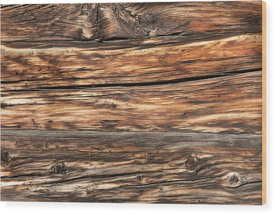 Weathered Wood 6 Wood Print by Charles Lupica