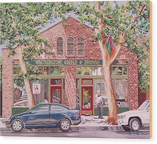 Weatherstone Coffee Wood Print by Paul Guyer