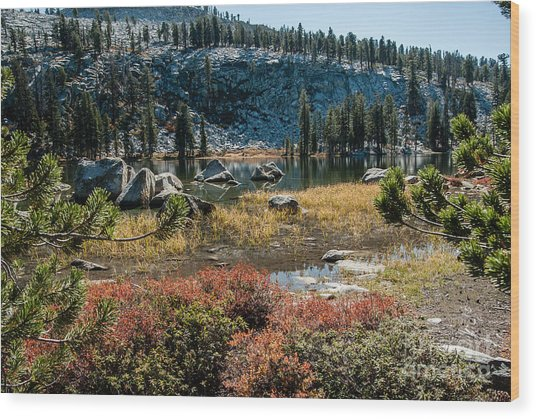 Weaver Lake- 1-7695 Wood Print