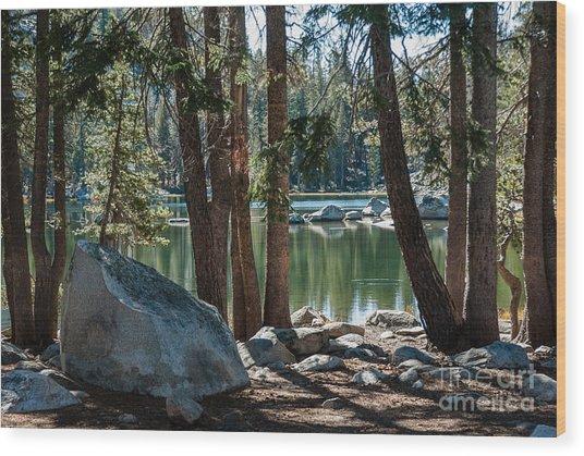 Weaver Lake  1-7700 Wood Print by Stephen Parker