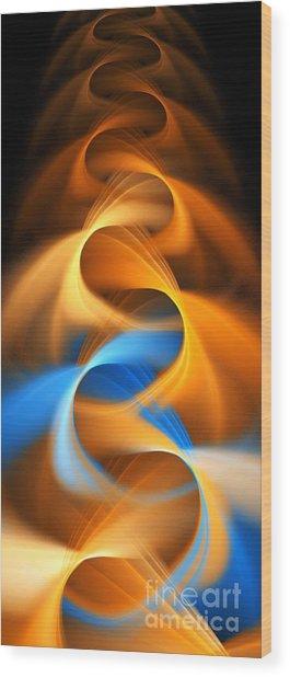 Weaving Color  Wood Print