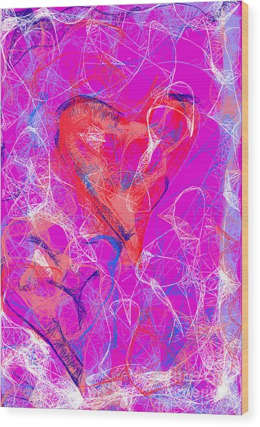 Web Of Love Wood Print