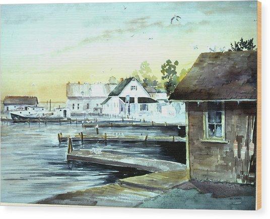 Weborg's Dock Wood Print