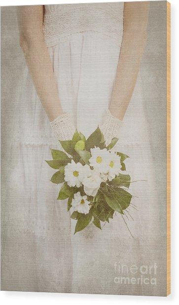 Wedding Bouquet Wood Print