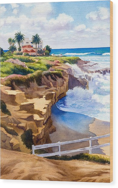 Wedding Bowl La Jolla California Wood Print