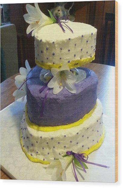 Wedding Cake For May Wood Print