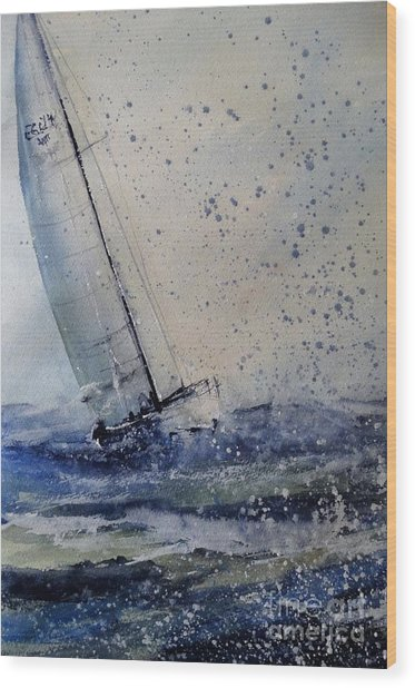 Wednesday Evening Sail Wood Print