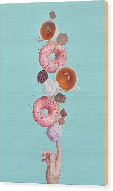 Weekend Donuts Wood Print