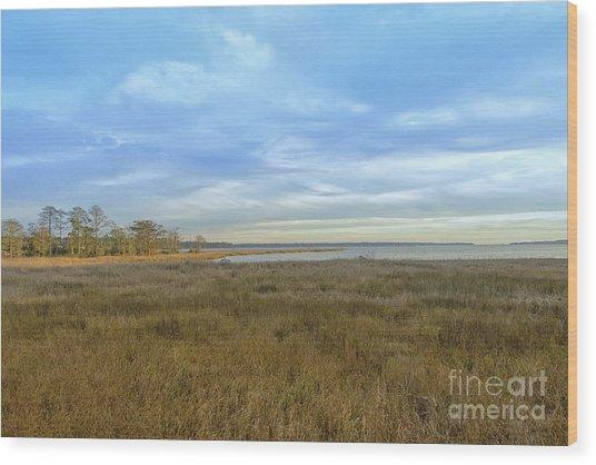 Weeks Bay In Winter Wood Print by Russell Christie