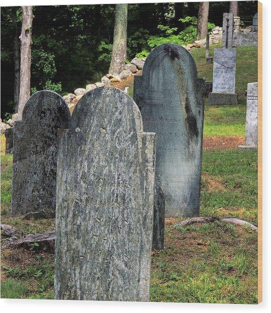 Weeks Cemetery Wood Print