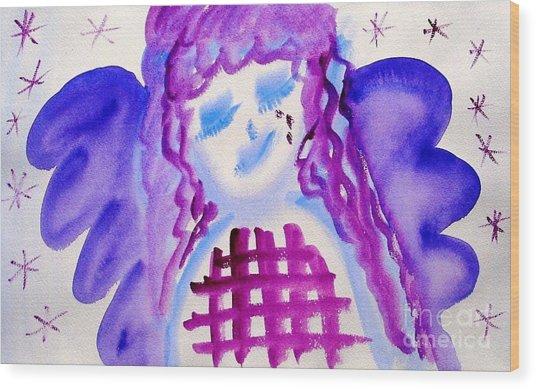 ...weeping Angel... Wood Print by Jutta Gabriel