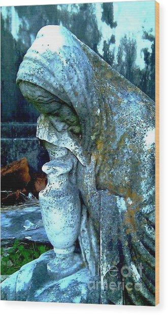Weeping Stone Wood Print