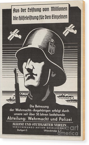 Wehrmacht Wood Print