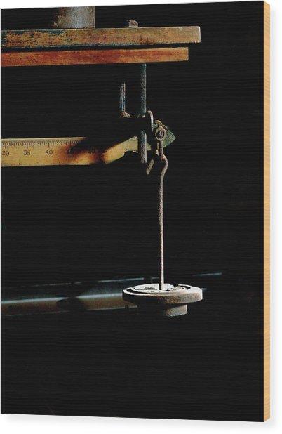 Weighing Value - Vintage Fairbank Scale Wood Print