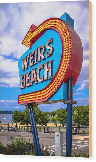 Weirs Beach Wood Print