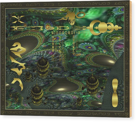 Welcome To Cosmic City Wood Print