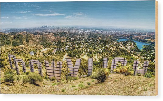 Welcome To Hollywood Wood Print